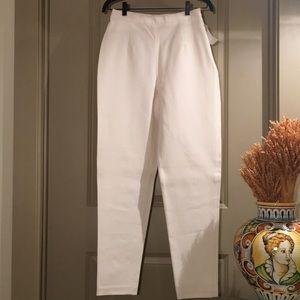 Winter White High Waist Stretch Pants